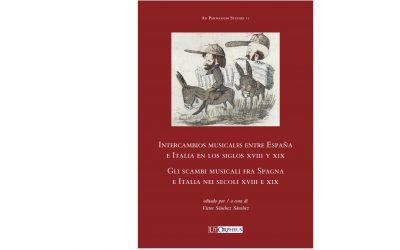 """Publicación """"Intercambios musicales entre España e Italia en los siglos XVIII y XIX"""""""