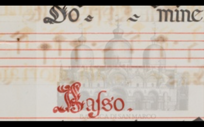 Recursos: The Sound of St Mark's. A Digital Catalogue of the Choirbooks with Polyphonic Music of the Venetian Ducal Chapel