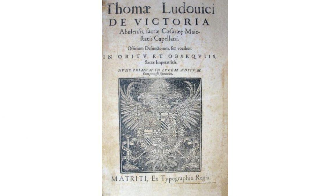 """Presentación CD """"Tomás Luis de Victoria. Officium Defunctorum"""""""